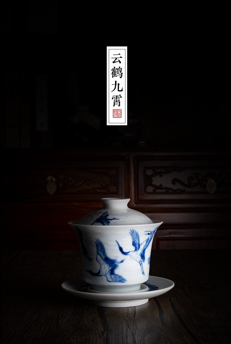 """Holy big blue and white """"James t. c. na was published far tureen jingdezhen ceramic checking hand - made of high - grade ceramic kung fu tureen"""