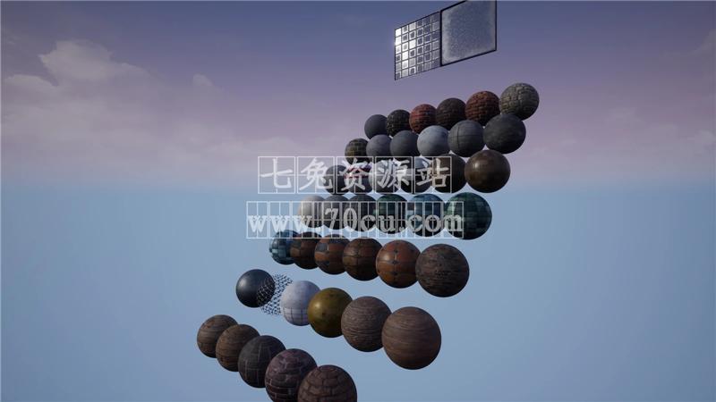虚幻UE4引擎PBR沥青金属混凝土材质包Urban Material Pack 4.15-4.24