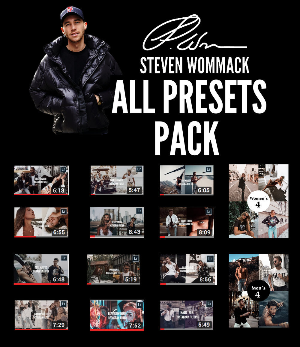 【P330】100个Steven Wommack All Presets Pack 所有LR预设包手机版滤镜
