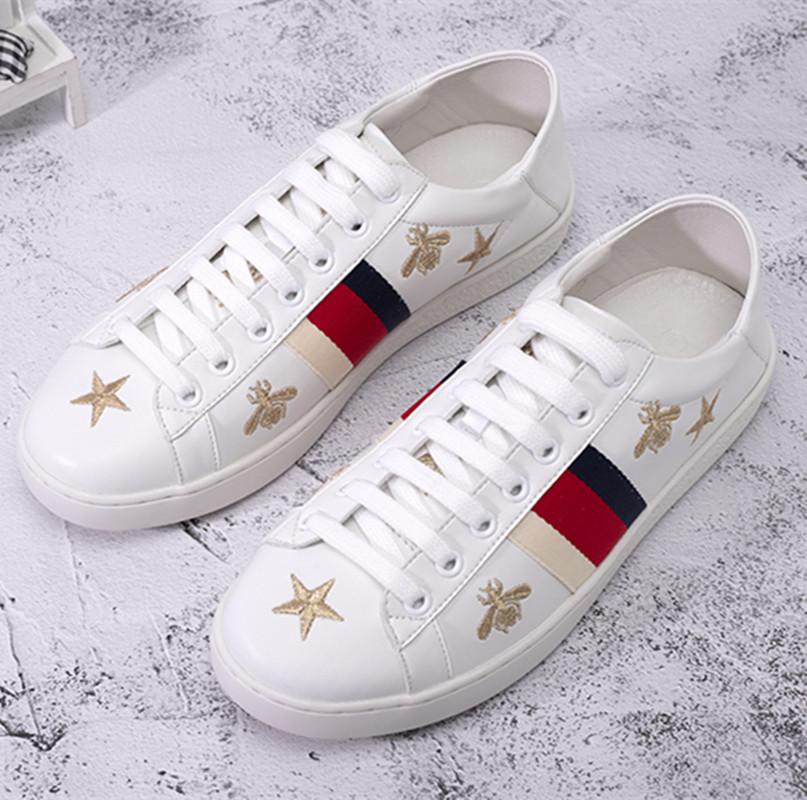 金线蜜蜂星星刺绣运动鞋,经典奢华