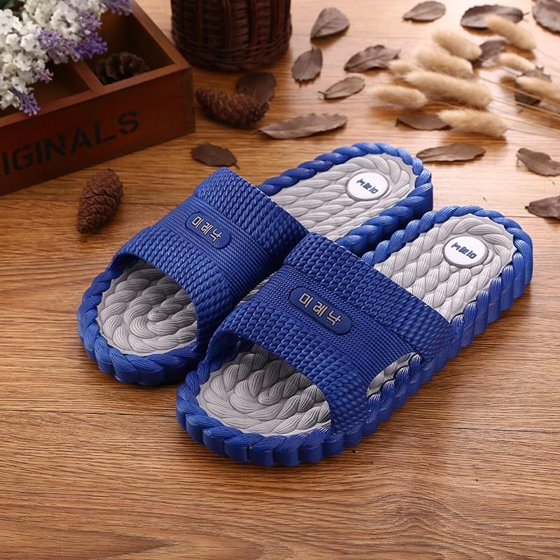 时尚家居浴室防滑软底男式拖鞋夏季室内洗澡平跟塑胶男女士凉拖鞋