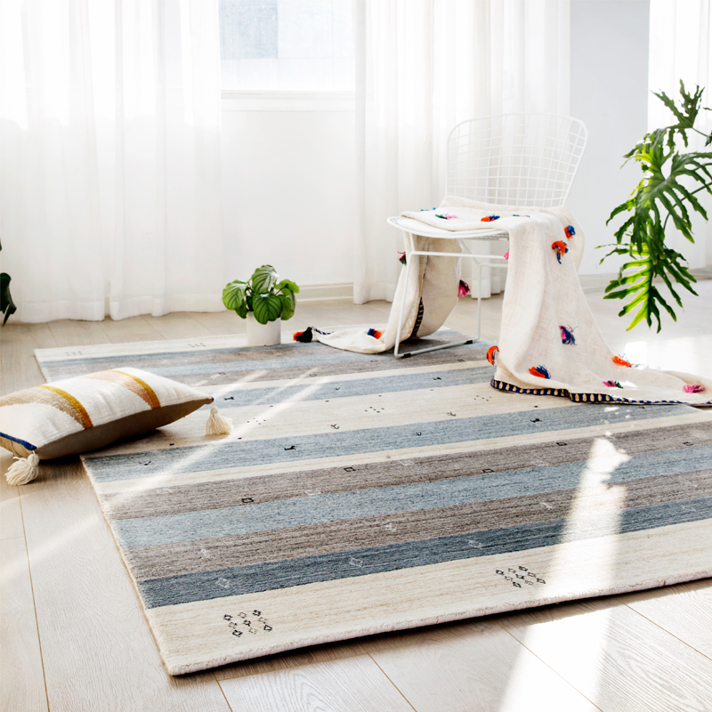 Aoki Shop Kilim India Imported Pure Hand Knotted Wool Silk Carpet Nordic  Living Room Carpet