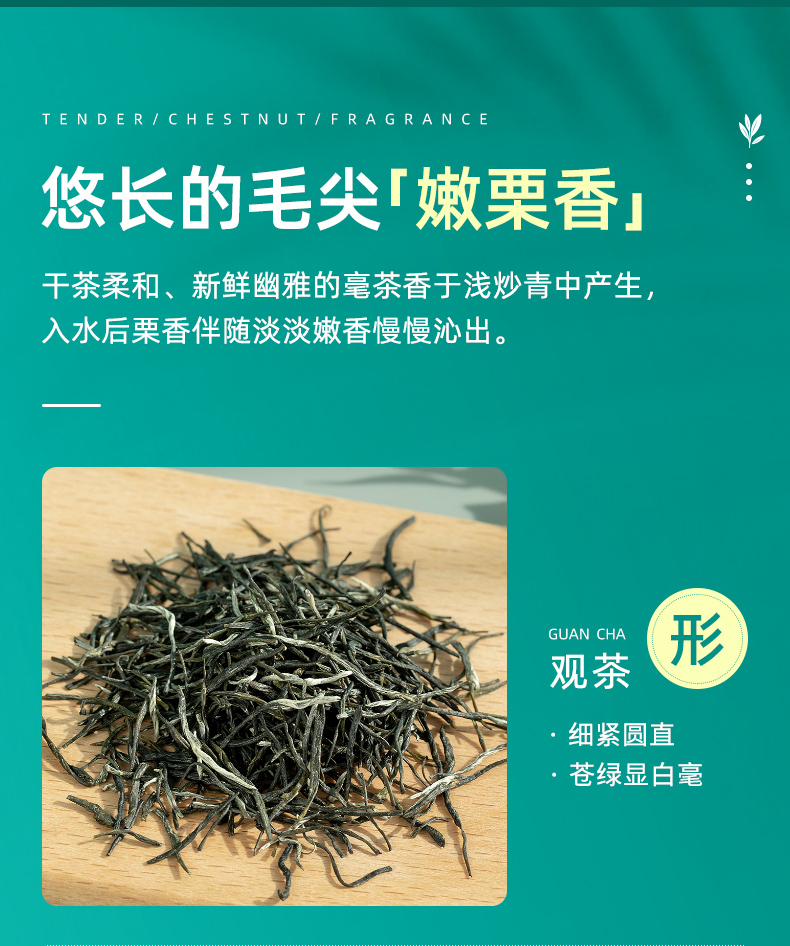 艺福堂茶叶年新茶信阳原产毛尖明前特级正宗嫩芽绿茶散装详细照片