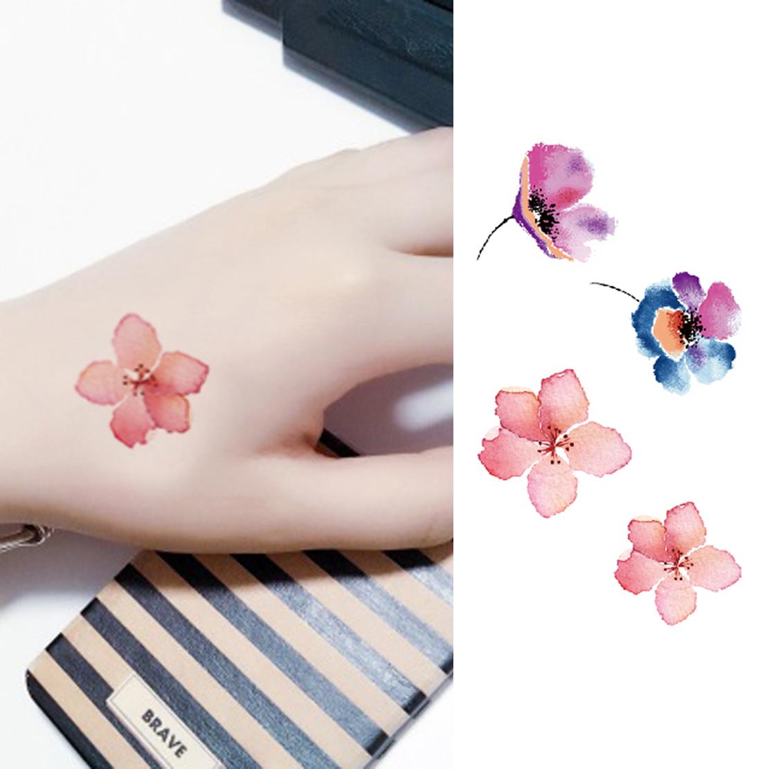 Usd 408 Hand Painted Peach Pattern Body Stickers Waterproof Female