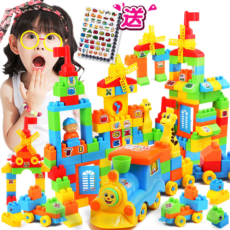 4 Pces/lot Children Family Assemble Plastic Blocks Toys Girls Small Blocks Blocks Assembly Puzzle Toys Gifts Toys & Hobbies