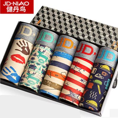 释小龙代言【健丹鸟】纯棉内裤5条盒装