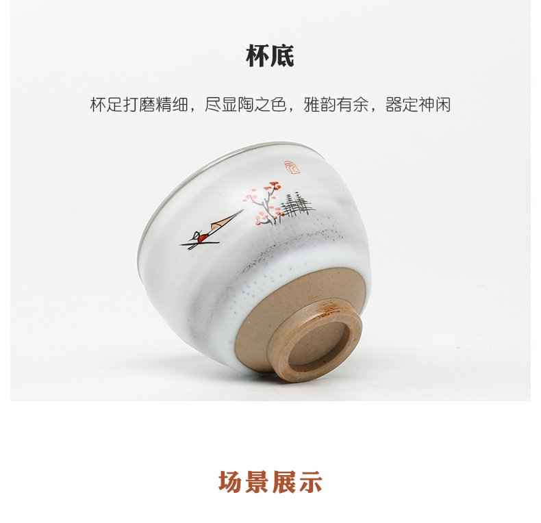 Three frequently hall up kung fu jingdezhen ceramic sample tea cup masters cup tea cups S42157 personal single CPU