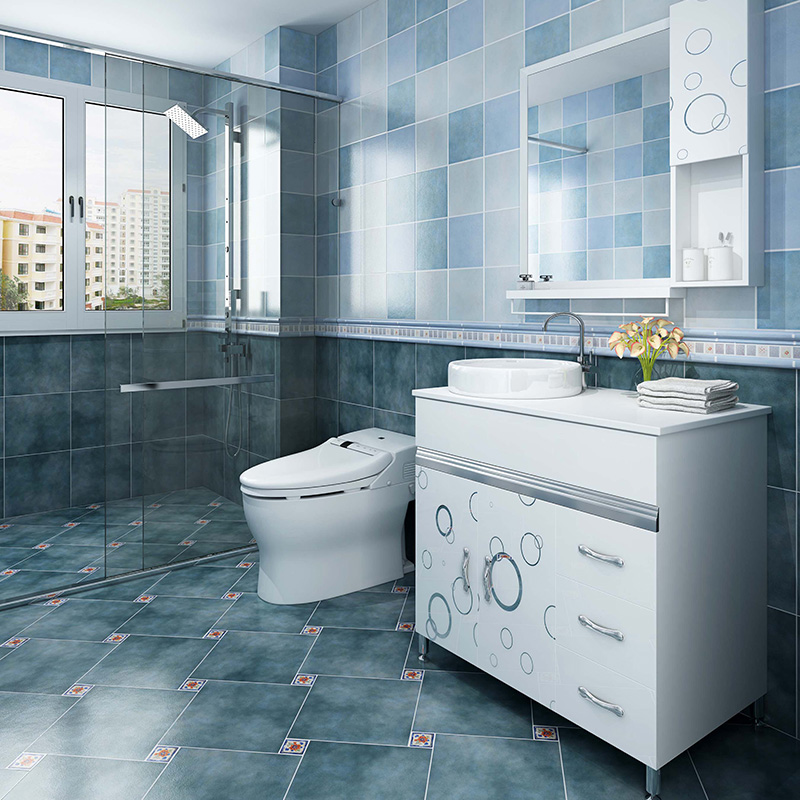 Tile Bathroom Toilet Anti Slip Floor Tiles European Antique Brick Mediterranean Vintage Wall