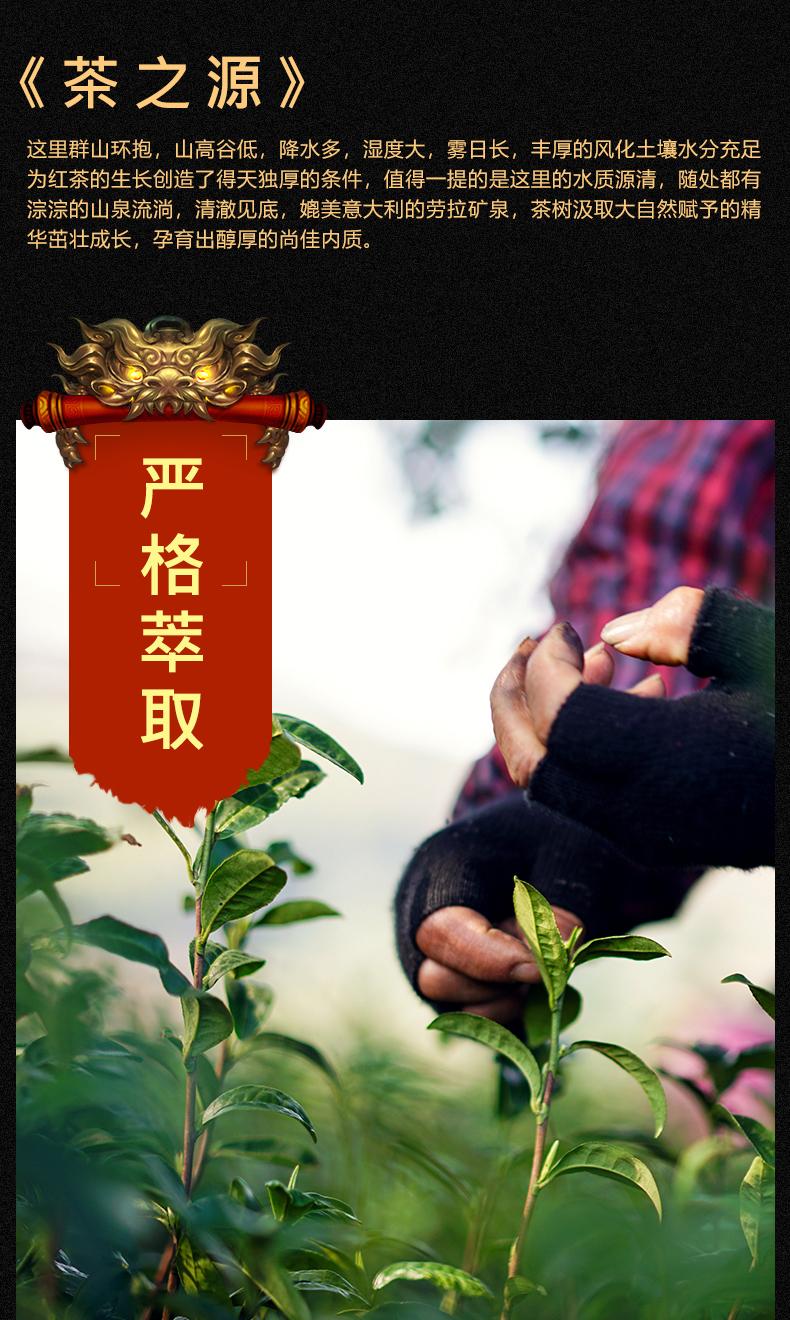 正山小种红茶茶叶新茶武夷山红茶浓香型散装年货礼盒装详细照片