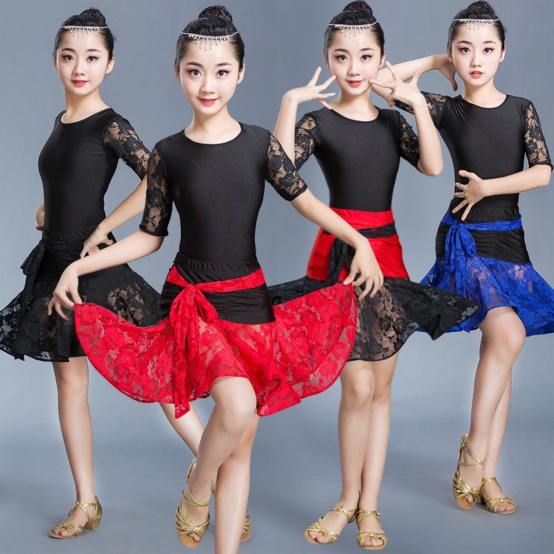 夏季儿童拉丁舞练功服拉丁舞表演服