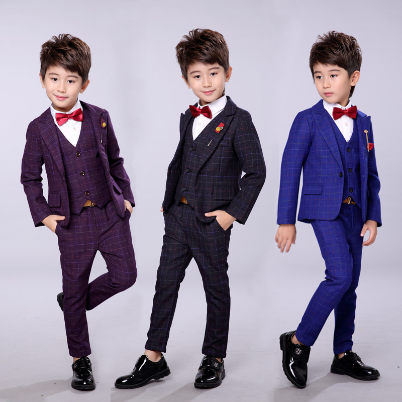 Children S Suit Boy 2018 New Korean Autumn And Winter Thickening Wedding Dress Flower