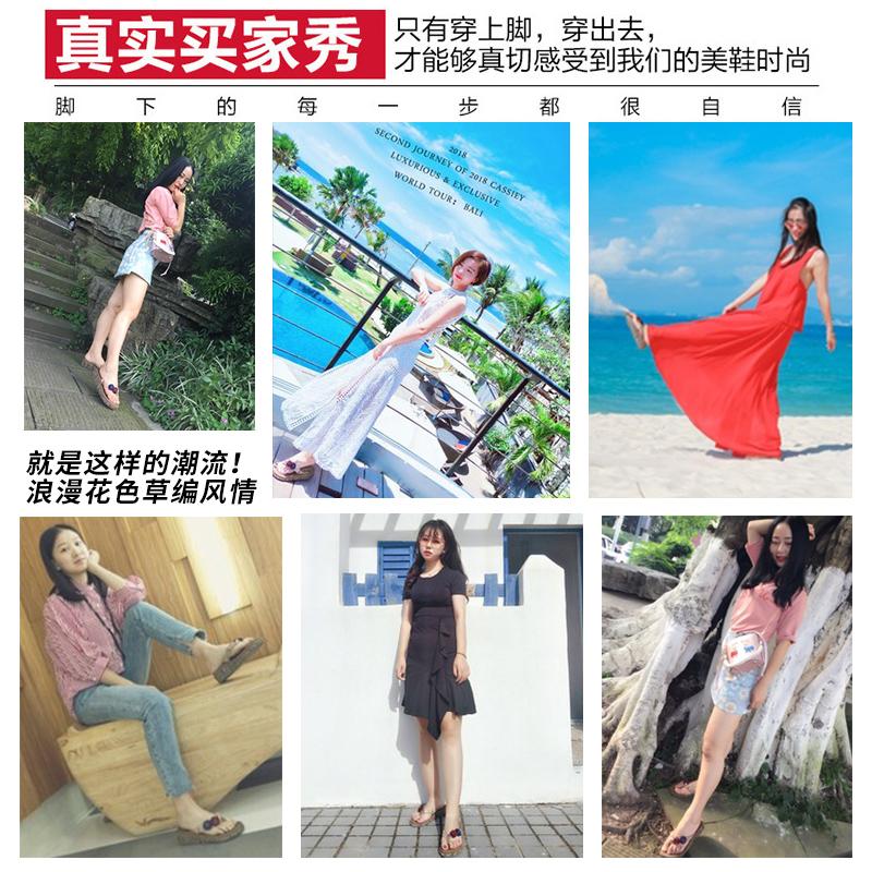 2020 thời trang mới bên ngoài mặc nữ mùa hè dép bãi biển bãi biển lật dốc với lớp vỏ dày dép cao gót dép nữ