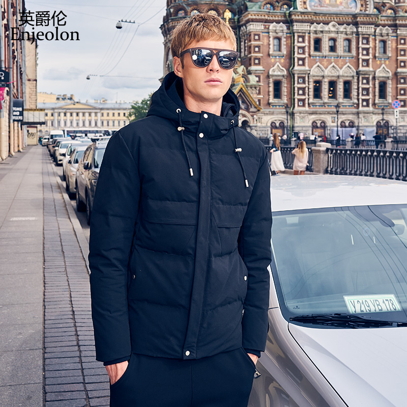 British Lord cotton men's Winter new Korean version of the trend of slim thickened hooded coat youth coat tide