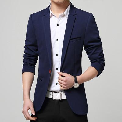 Mùa xuân và mùa thu của nam giới thường phù hợp với Hàn Quốc phiên bản của tự trồng nhỏ phù hợp với nam đẹp trai thời trang phần mỏng thanh niên áo khoác áo triều Suit phù hợp