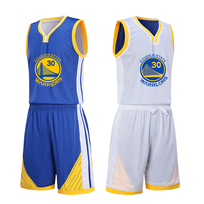 cheap for discount 890fd ea310 New Warriors double-sided wear basketball Suit Suit male custom student  competition suits training suits library two jersey