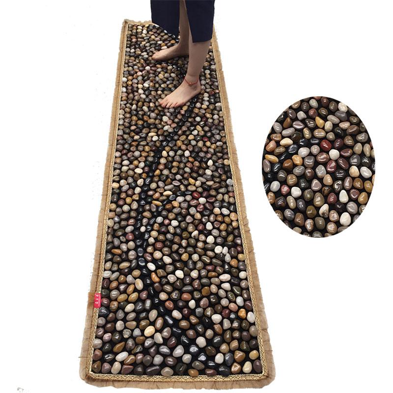Рефлекторный массажный коврик для ног Большой 2-метровый булыжник массаж ног коврик Шиацу плиты гравий каменная тропа, прогулка одеяло массаж ног Бесплатная доставка