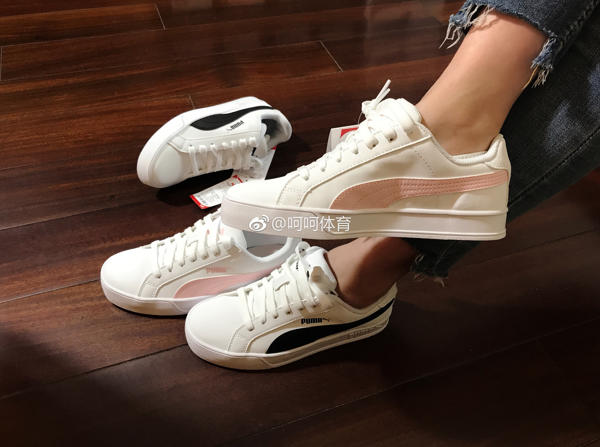 ... Puma Smash Vulc South Korea Puma cherry blossom powder womens Casual  Shoes 359622 15 on feet ... 396fe5387