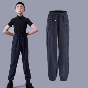 Boys latin dance pants Boys national standard Latin dance trousers with high bandage and loose band