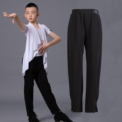 Boys latin dance pants Boys Latin dance trousers with feet closed and legs showing long legs children and teenagers modern friendship national standard dance training clothes