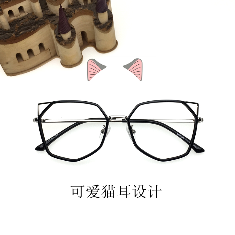 eba08e50341 Frame style  Full frame. Color classification  Black Gold transparent gold  black silver yellow BAO WEN through powder tea