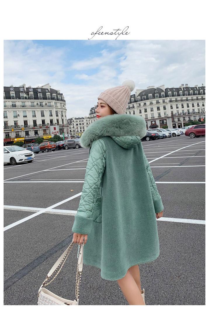 Deep degree 2020 autumn dress new large size women's autumn fashion luxury fur all-in-one jacket 9V9 53 Online shopping Bangladesh