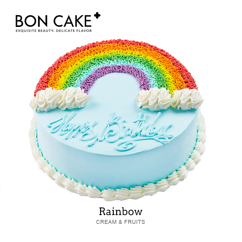 USD 5779 BON CAKE RainbowParty Afternoon Tea Birthday Cake