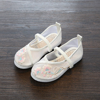 Chinese clothing shoes women shoes summer sandals handmade cloth shoes embroidered shoes children Guofeng princess shoes dance shoes breathable mesh shoes