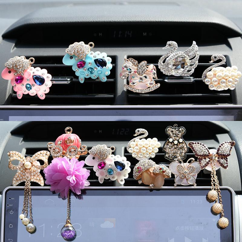 Điều hòa không khí xe cửa thoát khí nước hoa clip thịt cừu cao cấp xe dát rhinestone xe phụ kiện xe hơi nguồn cung cấp ô tô