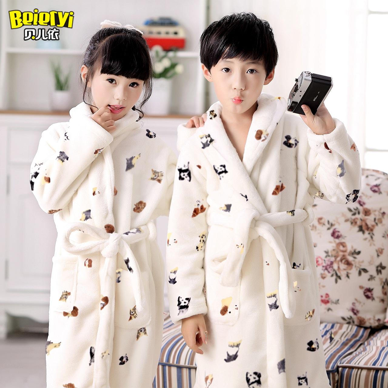 5479614de0d9 USD 47.43  Children s clothing children s thickened nightgown boys ...