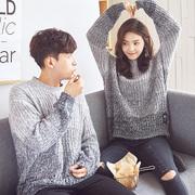 Tang lion mùa thu và mùa đông áo len nam giới và phụ nữ những người yêu thích áo len Hàn Quốc phiên bản của lỏng bf áo len net áo len màu đỏ áo len