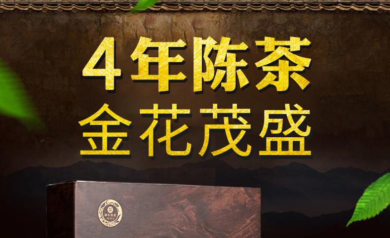 湘丰 安化黑茶 金花手筑茯茶 2斤*2盒 4年陈茶 图3