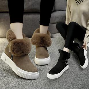 晨品雪地靴女靴2018新款保暖棉鞋短靴