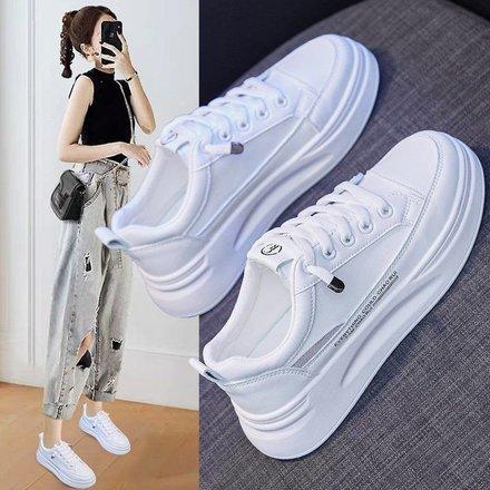网红超火ins潮鞋小白鞋女2021新款春季韩版平底学生运动鞋老爹鞋
