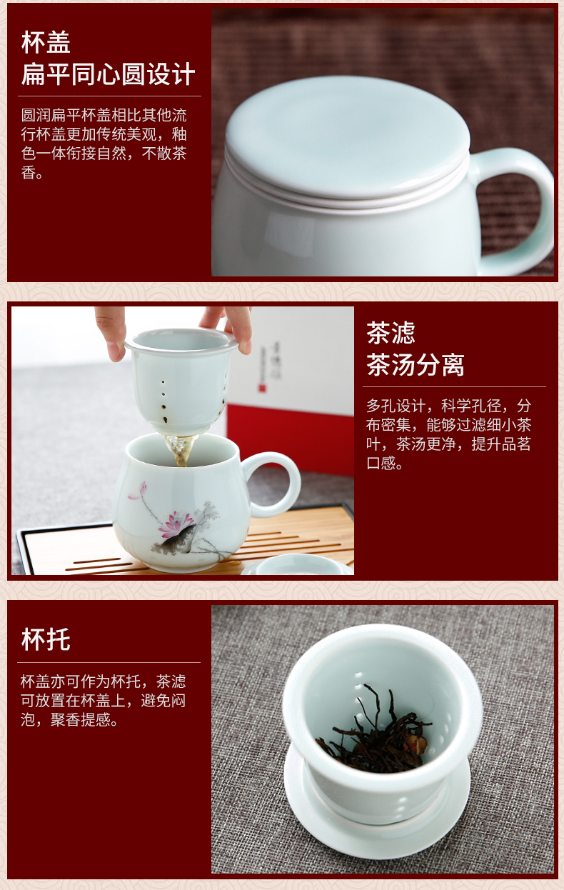 The Poly real boutique scene. Big jingdezhen ceramic tea set tea cups office cup tea pot set of gift