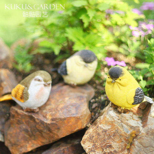 Creative garden balcony gardening decoration crafts gift home furnishings simulation resin bird decoration ornaments