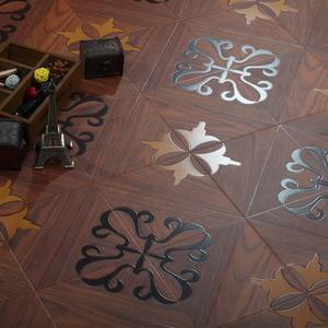 拼花地板强化复合木地板欧式个性仿古复古立体浮雕高耐磨12mm