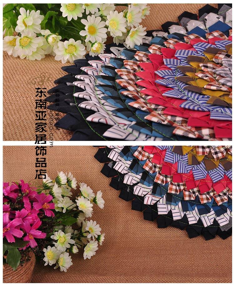 東南亞家居泰國特色手工縫制布藝坐墊椅墊促銷圓形蓮花沙發墊圖片