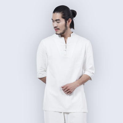 Men's Cotton-Linen Yoga Clothes Taiji Gushi Meditation Clothes Loose Zen Clothes Professional Practice Gongfu Tea Ceremony