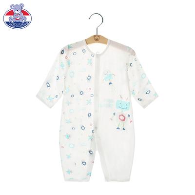 新生儿睡衣夏季哈衣男薄款空调服女宝宝春秋装婴儿连体衣服竹纤维