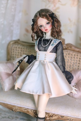 taobao agent 【Yu Yu Sauce】BJD/SD baby clothes suit/dress blue flower embroidered skirt