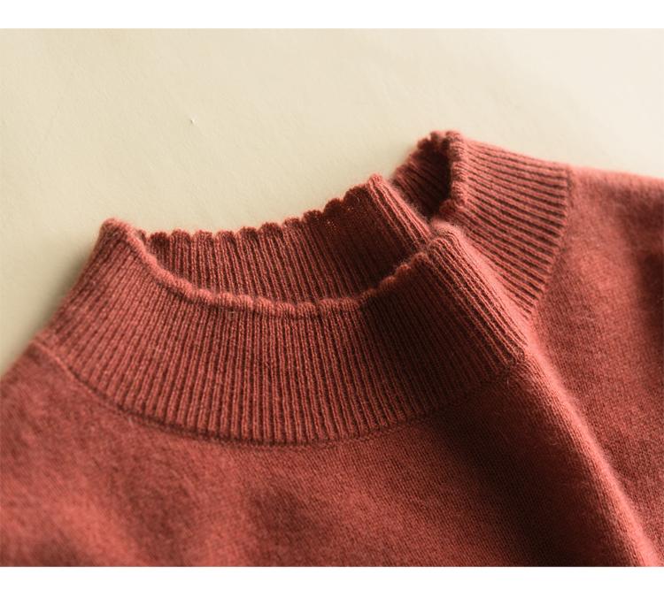 【可仿】半高领中长款针织打底衫毛衣连衣裙 - 壹一 - 壹一编织博客