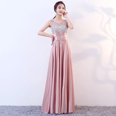 Evening dress fashion dress long host banquet etiquette chorus dress student dress for girl