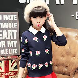女童毛衣套头加厚儿童棉