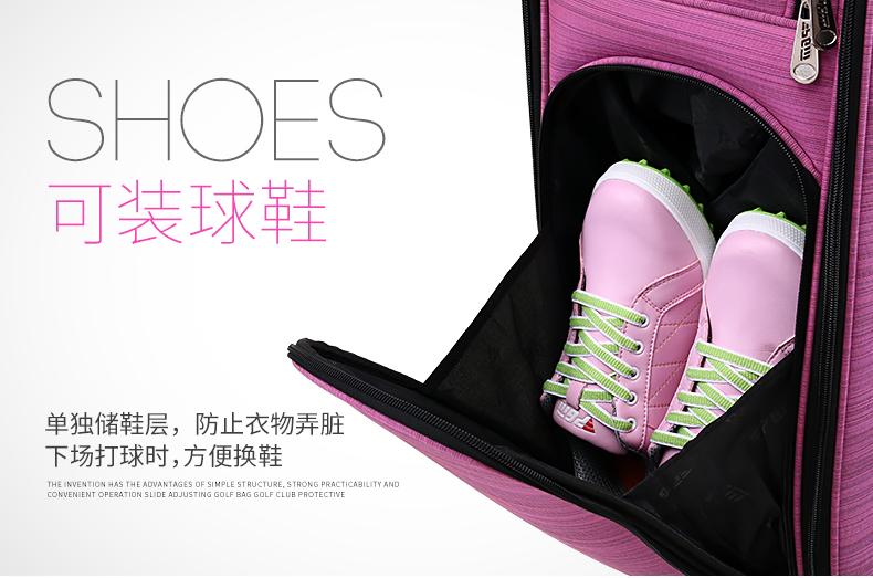 潮集韓品新款 高爾夫專利伸縮球包 帶滑輪多功能 硬殼球帽女士航空包QB041