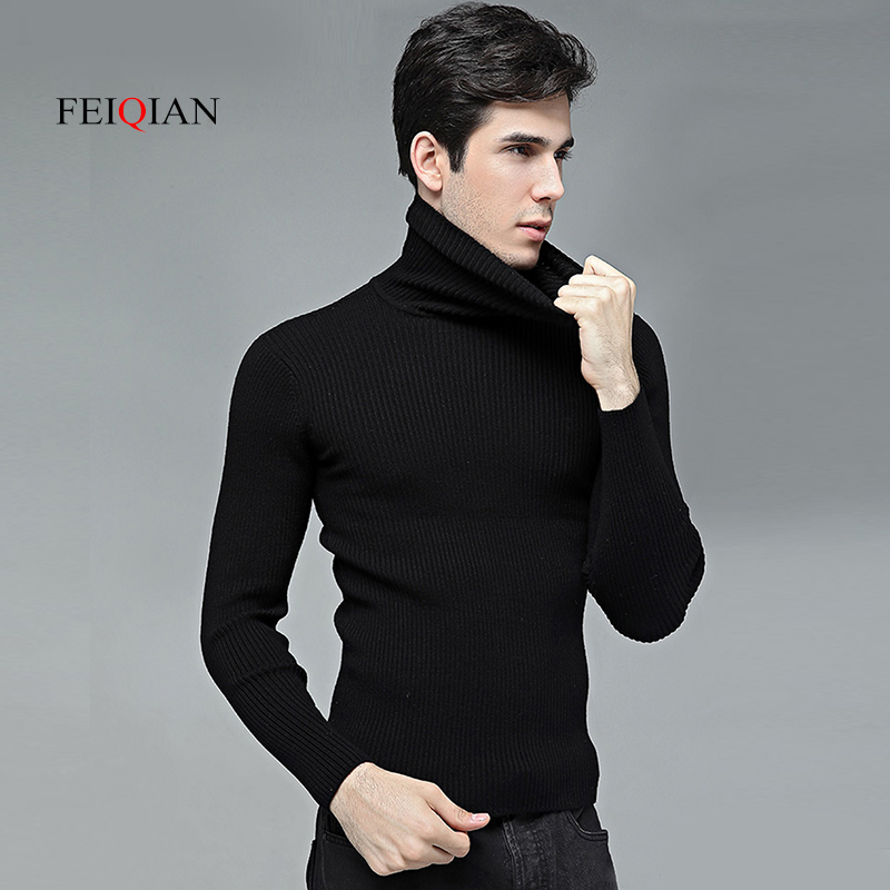 13512a7e7 Autumn and winter high collar sweater men s sweater Korean version of the  thick set of sweaters ...