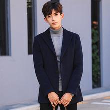 西装男韩版修身羊毛呢子外套西服