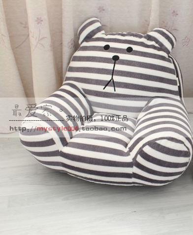Софа Серый полосатый медведь мультфильм диван/творческий погремушка татами диван стул дети