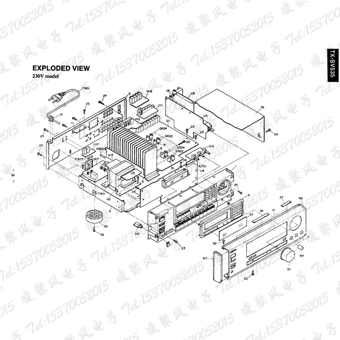 Onkyo Onkyo Tx Sv535 Av Amplifier Scan Edition Repair Manual Circuit