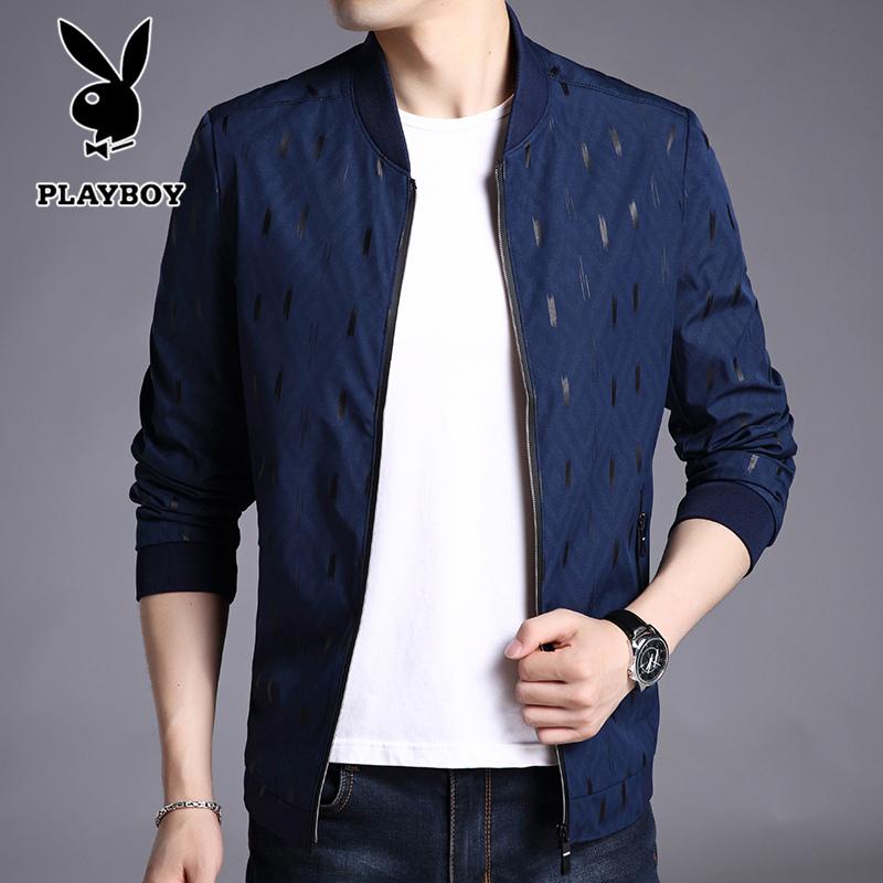 Playboy куртка мужчина 2018 новая весна модель бейсбол воротник случайный куртка рубашка мужской тонкий модель сплошной цвет мужской пальто