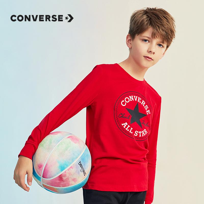 Converse 匡威 儿童圆领T恤  天猫优惠券折后¥79包邮(¥99-20)长袖、短袖105~165码2色可选